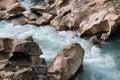 Stone coast rivers Royalty Free Stock Photo