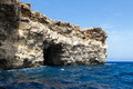 Stone on comino island malta Royalty Free Stock Images