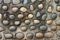 Stone in concreate Royalty Free Stock Photo