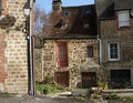 Stone cottage in nFrance Royalty Free Stock Photo
