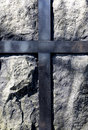 Stone cross background Royalty Free Stock Image