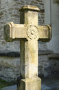 Stone cross an at the putna monastery putna is a romanian orthodox monastery one of the most important cultural religious and Stock Photo