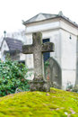 Stone cross on a tomb Royalty Free Stock Photo