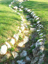 Stone curved path Royalty Free Stock Photo