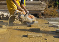 Stone Cutting Saw Stock Image
