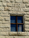 Stone dairy this barn was constructed during at the idaho state penitentiary near boise Royalty Free Stock Photos