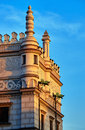 Stone decorating and gargoyles on the renaissance town hall in poznan Royalty Free Stock Images