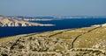 Stone desert landscape and sea Royalty Free Stock Photo