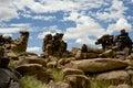 Stone Desert Giants Playground in Namibia Royalty Free Stock Photo