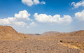 Stone desert between the uae and oman Royalty Free Stock Photography