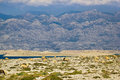 Stone desert under velebit mountain island of pag croatia Royalty Free Stock Photography