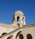 Stone dome one of the on the walls of the mosque enclosure in sousse tunisia Royalty Free Stock Photos
