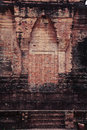 Stone door in the prasat kravan temple in angkor war Royalty Free Stock Image