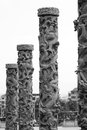 Stone dragon pillars a kind of carving art Royalty Free Stock Photos