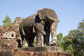 Stone Elephant, East Mebon Temple, Cambodia Stock Photography