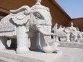 Stone elephant statues Royalty Free Stock Photography