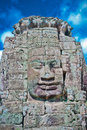Stone face, Bayon Temple - Angkor Area Stock Image