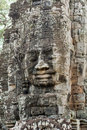 Stone Face on Bayon Temple at Angkor Thom, Cambodi Royalty Free Stock Photo