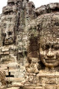 Stone Face on Bayon Temple at Angkor Thom, Cambodi Stock Photography