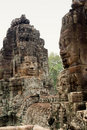 Stone Face on Bayon Temple at Angkor Thom, Cambodi Royalty Free Stock Photography