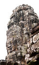 Stone face of Khmer temple Bayon in Cambodia Royalty Free Stock Images