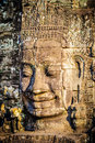 Stone faces at the bayon temple in siem reap cambodia multiple Stock Photography