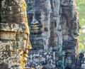 Stone faces at the bayon temple in siem reap,cambodia 12 Royalty Free Stock Photo