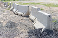 Stone fences in a row Royalty Free Stock Photo