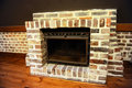 Stone fireplace Royalty Free Stock Photos