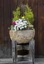 Stone flower pot Stock Images