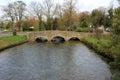 Stone footbridge Royalty Free Stock Photo