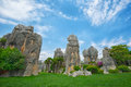 Stone forest nature landscape of china national park in kunming Royalty Free Stock Image