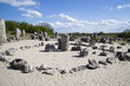 Stone forest near varna bulgaria pobiti kamani rock phenomenon Royalty Free Stock Image
