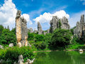 The stone forest scenic spot in kunming of China Royalty Free Stock Photo