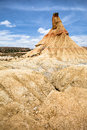 Stone formation Castilldetierra in Bardenas Reales Stock Photos