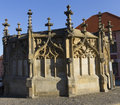 Stone fountain in Kutna hora Stock Photo
