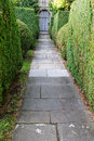 Stone Garden Path Stock Photo