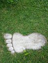 Stone garden path in foot format. Royalty Free Stock Photo
