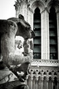 Stone Gargoyles of Notre Dame Royalty Free Stock Photos