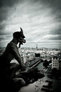 Stone Gargoyles of Notre Dame Royalty Free Stock Images
