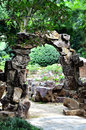 Stone gate a in a chinese style garden Stock Photography