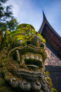 Stone giant temple sculpture face in thailand Royalty Free Stock Photo