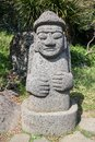 Stone grandfather in jeju island korea Royalty Free Stock Images