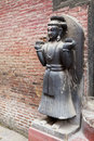 Stone Guardian, Royal Palace of Bhaktapur, Nepal Royalty Free Stock Photography
