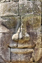 Stone head on towers of Bayon Stock Images