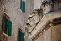 Stone heads at Cathedral of St. James in Sibenik, Croatia Stock Images