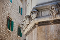 Stone heads at Cathedral of St. James in Sibenik, Croatia Royalty Free Stock Images