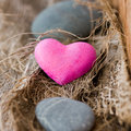 Stone heart Stock Photography