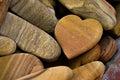 Stone Heart Royalty Free Stock Photo