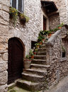 Stone house ancient and staircase italy Royalty Free Stock Images